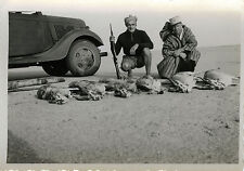PHOTO ANCIENNE - VINTAGE SNAPSHOT - CHASSE CHASSEUR AFRIQUE ANTILOPE - HUNTING