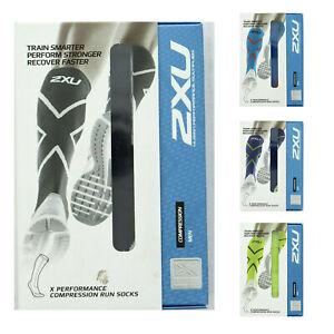 2XU Compression Run Socks, X Performance, Men's Muscle Recovery Sock MA4153e