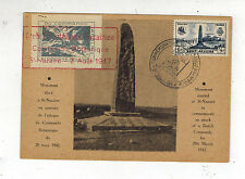 1947 St Nazaire France Postcard Cover Local Issues British Commando Raid Anniver