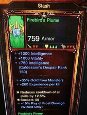 DIABLO 3 PRIMAL ANCIENT FIREBIRDS FINERY WIZARD SET PATCH 2.5 XBOX ONE