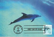 Dolphin Marine Life Mammal Usa Fdc Maximum Card Scott #4388