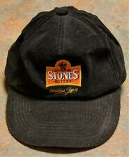 """STONES BITTER""  CORDUROY BASEBALL CAP, GOOD CONDITION"