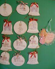 Precious Moments Mini Small Christmas Ornaments (set of 13)