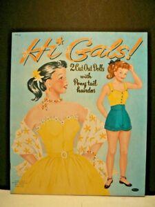 """Paper Dolls, """"Hi Gals"""" 1953, Whitman, Uncut"""