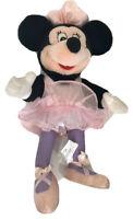 "Vintage Disney Minnie Mouse Poseable Ballerina Doll 15"" Stuffed Animal Plush"