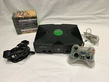 XBOX Classic Original Console with Clear Controller & 10 Games Inc Halo 1 & 2