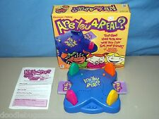 RARE 2002 Milton Bradley ARE YOU 4 for REAL? Electronic Talking Board Card Game