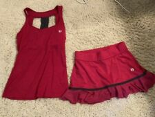 Tennis Set Outfit Skirt Tank Top Eleven by Venus Williams Small Berry EUC