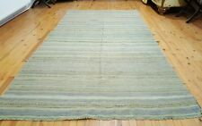 Lovely Antique Ca1900-1939s Muted Colors 5x10ft Natural Dyes Ushak Kilim