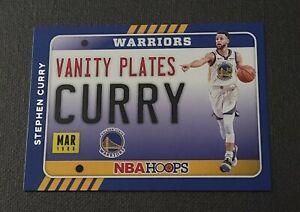 2020-21 Hoops Vanity Plates #16 Stephen Curry