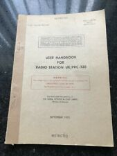CLANSMAN UK PRC320 GENUINE ARMY USER HAND BOOK GRADE A ORIGINAL NOT REVISED