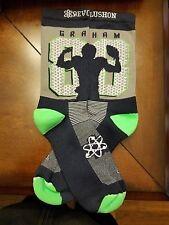 "Seattle Seahawks ""88 Grahams"" socks (Mens,LG, Gray)"
