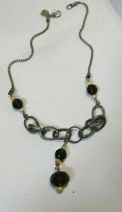 SILPADA Smoky Quartz Necklace N1454 Sterling 925 Citrine V.GOOD CONDITION