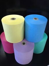 10..76mm x 76mm Dry Cleaning rolls Wet Strength Paper Rolls (  MIX  COLOURS )