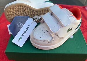 Lacoste Masters Cup 120 UK4 (Infant) BNIB White and Green Boys Trainers