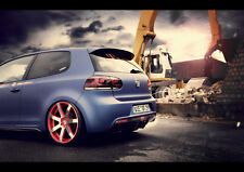 "BBM VW GOLF 6 REAR NEW A1 CANVAS GICLEE ART PRINT POSTER FRAMED 33.1""x23.4"""