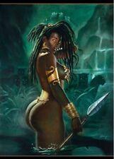 African American Art Print Warrior by Sterling Brown 36 x 24