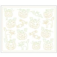 Japanese Embroidery  SASHIKO KIT Hana Fukin Thread  Halloween Party  HOBBYRA