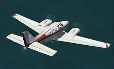 """Scale Beechcraft Barron Twin  70"""" Giant Scale RC Model AIrplane Printed Plans"""