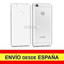 "Funda Silicona para ZTE NUBIA Z11 5,5"" Carcasa Transparente TPU ¡España! a2501"