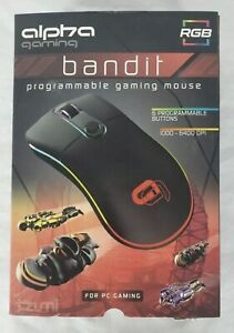 New TZUMI Alpha Gaming BANDIT Programmable USB RGB Gaming Mouse - FREE Ship!