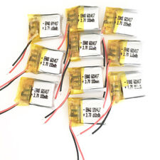10 x 100mAh 3.7V lipo Polymer Battery rechargeable For MP3 Bluetooth GPS 601417