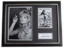 Brigitte Bardot Signed FRAMED Photo Autograph 16x12 display Film Happy Birthday