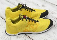 REEBOK CrossFit Mens Yellow Mesh Athletic Sneakers Size 10
