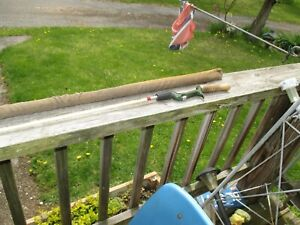 "vintage 1191 shakespere wonder rod 5'8"" howald casting rod preowned"