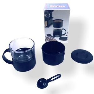 Vintage Enjoy Coffee Tea Maker One Cup with Filter Net Travel Camping