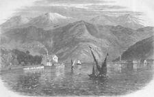 CROATIA. Insurrection, Dalmatia. Kotor Bay, antique print, 1869