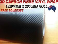 OZ excellent 3D Carbon Fibre Car Vinyl Wrap Sticker1.52 X 2 metre,Squeegee,