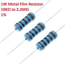 1W Metal Film Resistors/Resistance ±1% 41 Values Available 10KΩ 22KΩ to 2.2MΩ