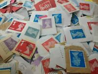 1000~GB Genuine Unsorted~Security Machin Stamps~Charity Kiloware~used on paper