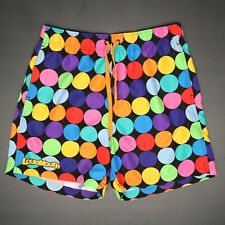 Loudmouth Mens Swimming Trunks Shorts S Multi-Color Polka Dot Bathing Suit