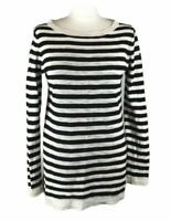 Gant Long Jumper Wide Neck Striped Sweatshirt Cotton Small Women's