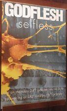 """40x60"""" HUGE SUBWAY POSTER~Godflesh 1994 Selfless Tour Dates Justin Broadrick NOS"""