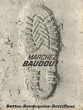 Publicité 1966  Chaussures BAUDOU bottes brodequins bottillons collection mode