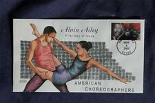 American Choreographers Alvin Ailey Stamp FDC HP Collins#K3802 Sc#3841 Dancer