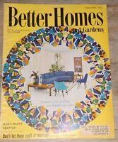 Better Homes & Gardens Magazine Vintage Aug 1957 Recipes Illustrations VG Condit