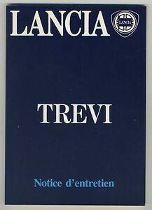 (39B) LANCIA TREVI  Notice d'entretien 1983