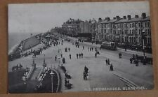 Postcard North Shore promenades Blackpool posted 1918