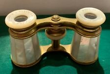 Antique French Mother Of Pearl Opera Glasses Binoculars  FANTASTIC