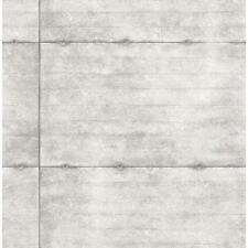 Wallpaper Designer Smooth Concrete Light Grey Geometric Rectangles