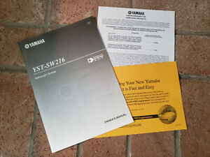 Yamaha YST-SW216 Powered Active Subwoofer System Owner's Manual MINT condition