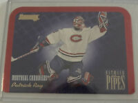 1995-96 Donruss #7 Patrick Roy Between The Pipes Montreal Canadiens Hockey Card