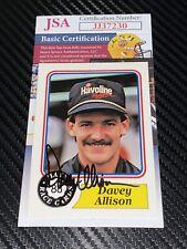 Davey Allison signed 1988 NASCAR WINSTON CUP VINTAGE card HAVOLINE #28 JSA COA