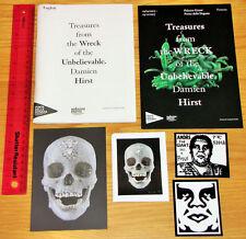 Damien Hirst-Guía de tesoros, volante & Cráneo Postal Obey Fairey Pegatinas