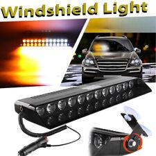 12 LED Car Emergency Strobe Flash Light Windshield Warning Light - White Amber