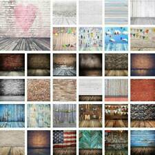 Tie Dye Retro Background Plank Photography Brick Wall Photo Studio Backdrop 5x7